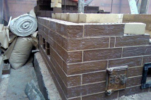 Кирпичная печь для русской бани